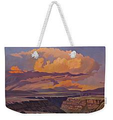 Taos Gorge - Pastel Sky Weekender Tote Bag by Art James West