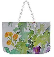 Weekender Tote Bag featuring the painting Taos Spring by Beverley Harper Tinsley