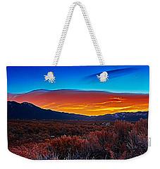 Taos Sunrise X Weekender Tote Bag