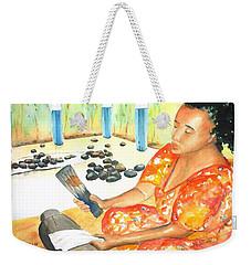 Tapa Stretch Weekender Tote Bag by Carlin Blahnik