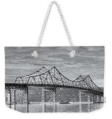 Tappan Zee Bridge Iv Weekender Tote Bag by Clarence Holmes