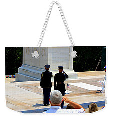 Taps At The Tomb Of The Unknown Weekender Tote Bag by Patti Whitten