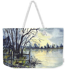 Moonlight Reflections In Loch Tarn In Scotland Weekender Tote Bag