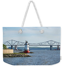 Tarrytown Lighthouse Weekender Tote Bag by Karen Silvestri