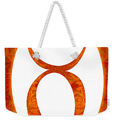 Weekender Tote Bag featuring the digital art Taurus And Sacral Chakra  Abstract Spiritual Artwork By Omaste W by Omaste Witkowski