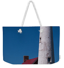 Weekender Tote Bag featuring the photograph Tawas Point Lighthouse by Patrick Shupert