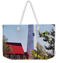 Tawas Point Lighthouse...from Tawas Bay Side Weekender Tote Bag by Daniel Thompson