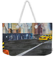 Taxi 9 Nyc Under Construction Weekender Tote Bag
