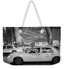 Taxis On Fifth Avenue Weekender Tote Bag