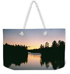Tea Lake Sunset Weekender Tote Bag by David Porteus