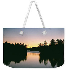 Tea Lake Sunset Weekender Tote Bag