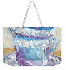 Weekender Tote Bag featuring the painting Tea Time  by Reina Resto