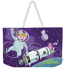 Tea Time Space Walk Weekender Tote Bag