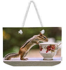 Tea Time With Chipmunk Weekender Tote Bag