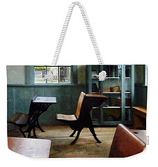 Teacher - One Room Schoolhouse With Clock Weekender Tote Bag
