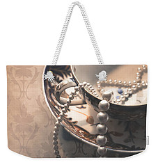 Teacup And Pearls Weekender Tote Bag by Jan Bickerton