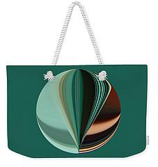 Teal Aqua Seven Duvet Size Weekender Tote Bag