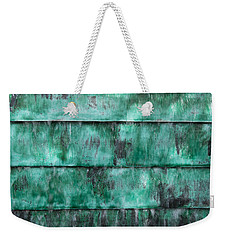 Weekender Tote Bag featuring the photograph Teal Water Panels by Jocelyn Friis