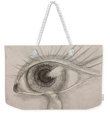 Weekender Tote Bag featuring the drawing Tear by Bozena Zajaczkowska