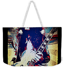 Ted Nugent - Red White And Blue Weekender Tote Bag by Absinthe Art By Michelle LeAnn Scott