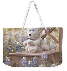 Teddy Bear And Texas Bluebonnets Weekender Tote Bag