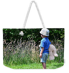 Weekender Tote Bag featuring the photograph Teddy Bear Walk by Keith Armstrong