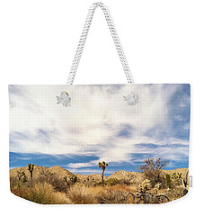 Weekender Tote Bag featuring the photograph Joshua Beauty by Angela J Wright