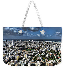 Weekender Tote Bag featuring the photograph Tel Aviv Center by Ron Shoshani