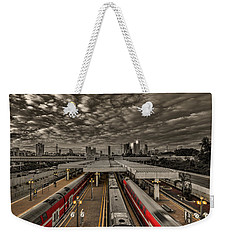 Tel Aviv Central Railway Station Weekender Tote Bag by Ron Shoshani