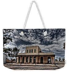 Weekender Tote Bag featuring the photograph Tel Aviv First Railway Station by Ron Shoshani