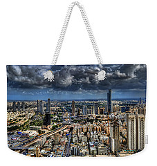 Weekender Tote Bag featuring the photograph Tel Aviv Love by Ron Shoshani