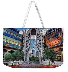 Weekender Tote Bag featuring the photograph Tel Aviv Performing Arts Center by Ronsho