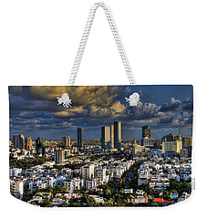Weekender Tote Bag featuring the photograph Tel Aviv Skyline Fascination by Ron Shoshani