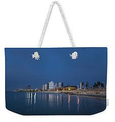 Tel Aviv The Blue Hour Weekender Tote Bag by Ron Shoshani