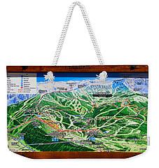 Telluride Ski Map Detail  Weekender Tote Bag by David Lee Thompson