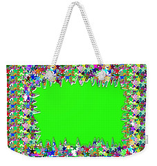 Weekender Tote Bag featuring the photograph Template Art Star Sparkle And Empty Box To Add Your Image Or Text by Navin Joshi