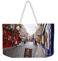 Weekender Tote Bag featuring the photograph Temple Bar by Mary Carol Story