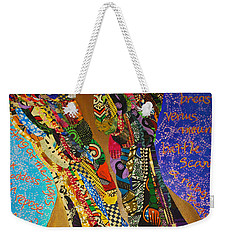 Weekender Tote Bag featuring the tapestry - textile Temple Of The Goddess Eye Vol 1 by Apanaki Temitayo M