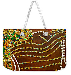 Weekender Tote Bag featuring the tapestry - textile Temple Of The Goddess Eye Vol 2 by Apanaki Temitayo M
