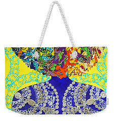 Weekender Tote Bag featuring the tapestry - textile Temple Of The Goddess Eye Vol 3 by Apanaki Temitayo M