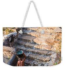 Temple Steps Weekender Tote Bag