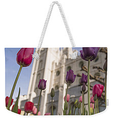 Temple Tulips Weekender Tote Bag