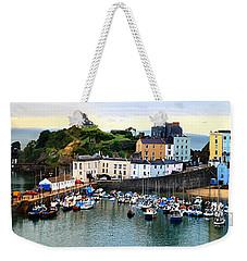 Tenby Harbour Panorama Weekender Tote Bag