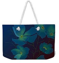 Weekender Tote Bag featuring the digital art Tender Cosmos by Latha Gokuldas Panicker