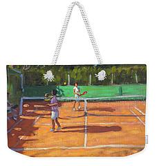 Tennis Practice Weekender Tote Bag by Andrew Macara