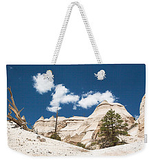 Weekender Tote Bag featuring the photograph High Noon At Tent Rocks by Roselynne Broussard