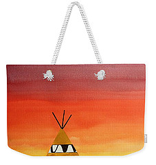 Tepee Or Not Tepee Original Painting Weekender Tote Bag