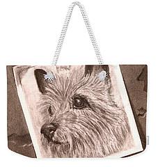Terrier As Optical Illusion Weekender Tote Bag