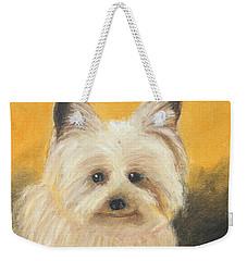 Terrier Weekender Tote Bag by Jeanne Fischer