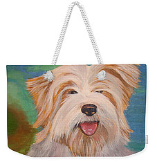 Terrier Portrait Weekender Tote Bag by Tracey Harrington-Simpson